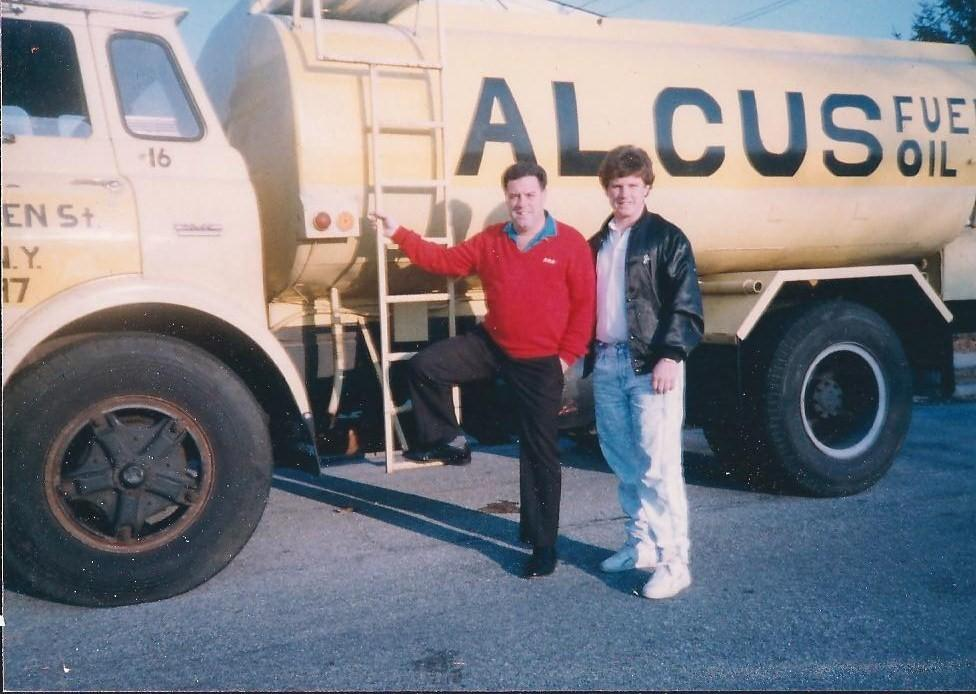 This is the first truck ever purchased and the start of Alcus Fuel Oil and Sons